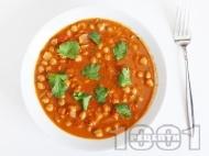 Рецепта Вкусна яхния от нахут с домати по индийски с гарам масала, кимион и кориандър